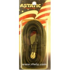 Astatic 407-18 - Co-Phase Harness Mil-Spec Cable Molded Ends Soldered PL259 RG59U - NOS