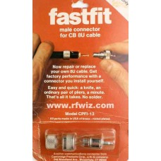 fastfit CPFI-13 - UHF Male PL259 Push On Connector RG8 Coax Cable CB Radio  - NOS