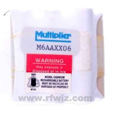 Multiplier M6AAXX06  -  7.2 V Ni-Cad Rechargable Battery for Regency Portable Scanners - NOS