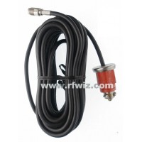 K40 K390R - 18 foot Black Coax Cable Assembly for the K40 Fiberglass Mount Red Plug CB Radio  - NOS