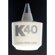 K40 K200W  -  Vintage White Base Coil For K40 Antenna w/Silver Logo Very Rare CB Radio  - NOS