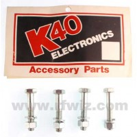 K40 MB-4 -  Qty 4 Heavy Duty Mirror / Bracket Mount Bolts w/Nuts and Washers - NOS