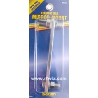 "Barjan 300-108  -  7"" Straight Bar Extra Heavy Duty 3/8x24 Thread Stud CB Mirror Mount - NOS"