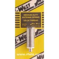 "Mid-West C-404  -  2"" Medium Duty Spring 3/8x24 Thread for 2-3' CB Antennas Midwest - NOS"