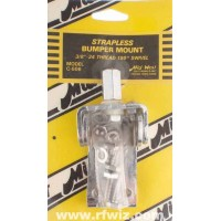Mid-West C-506  -  180° Swivel 3/8x24 Lug Stud CB Antenna Strapless Steel Bumper Mount Midwest C506 - NOS