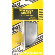 Mid-West C-509  -  Side Body Mount 3/8x24 Thread Direct Connect Stud CB Antenna Mount Midwest - NOS