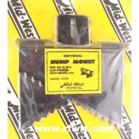 Mid-West C-520  -  Universal Hump Mount for Mobile Radios and Equipment Midwest C520 Black - NOS