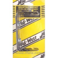"""Mid-West C-526  -  Universal Mounting Bracket for Mobile Radios 4-1/2"""" to 11-1/2"""" Midwest C526 Black - NOS"""