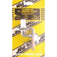Mid-West C-543  -  45° Angle 3/8x24 PL259 Stud CB Antenna Gooseneck Mirror Mount Midwest C543 - NOS