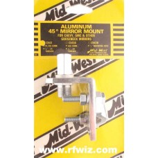 Mid-West C-543  -  45° Angle 3/8x24 PL259 Stud CB Antenna Gooseneck Mirror Mount Midwest C543 - NOS