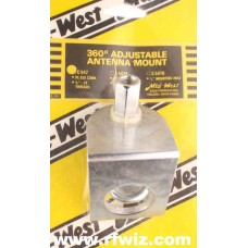 Mid-West C-547  -  360° Adjustable Angle 3/8x24 PL259 Stud CB Antenna Mirror Mount Midwest - NOS