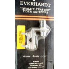 Everhardt EV-362 - Angle Horizontal Mirror Mount with SO-239 3/8x24 Stud for 2-4' CB Antennas - NOS