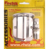 FireStik K-64A  -  3-Way Mirror Mount w/Stud 3/8x24 Thread & SO-239 Connector for CB Antennas - NOS