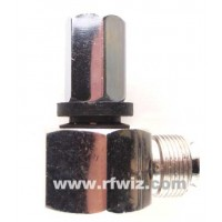 """Mid-West RA-510  -  Stud Mount Right Angle 3/8x24 Thread for 1/2"""" Bracket Hole Midwest - NOS"""