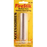"FireStik SS-3M  -  3"" Medium Duty Stainless Steel Spring 3/8x24 Thread for 2-3' CB Antennas - NOS"