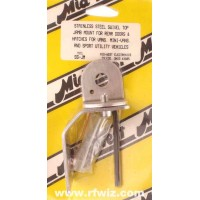 Mid-West SS-JM  -  Stainless Swivel Top Jamb Mount Hatches Vans SUVs Midwest CB Antenna Mount - NOS