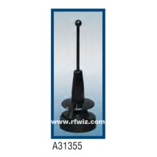 "Comtelco A31355B  -  3.4-3.6 GHz 3.25"" 5/8 Wave 5dBi / 3dBd Gain BLACK finish Mobile Antenna"