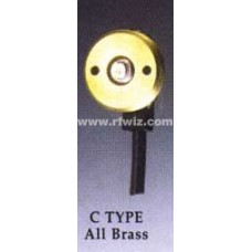 "Comtelco CZL-04 C Mount - C TYPE All Brass 3/4-3/8"" Hole Mount 17' Micro Loss 900 coax Mini UHF Connector"