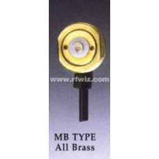 "Comtelco MBZL-02 MB Mount - MB TYPE All Brass 3/4"" Hole Mount 17' Micro Loss 900 coax BNC Connector"