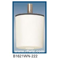 "Comtelco B1621WN-222  -  222 -224 MHz VHF Low Profile 3"" Dia. x 3 1/4"" Unity Gain White Ceiling Mount Antenna"