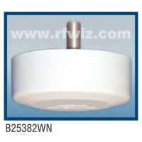 "Comtelco B2543WN  -  406-512 MHz UHF Low Profile 4.25"" Dia. x 1.5"" High Ceiling Mount WHITE Base Antenna"