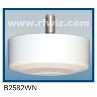 "Comtelco B2582WN  -  806-940 MHz UHF Low Profile 4.25"" Dia. x 1.5"" High Ceiling Mount WHITE Base Antenna"