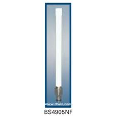 "Comtelco BS4905NF  - 4.940-4.990 GHz 5.25"" 5 dBi Gain WLAN N-Female Base Antenna"