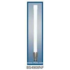 "Comtelco BS4908NF  - 4.940-4.990 GHz 7"" 8 dBi Gain WLAN N-Female Base Antenna"