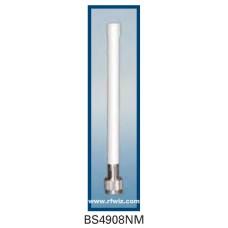 "Comtelco BS4908NM  - 4.940-4.990 GHz 7"" 8 dBi Gain WLAN N-Male Base Antenna"