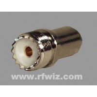 Comtelco RFC-08A - S0239 Solder Female Coax Connector for RG58A/U Type Cable