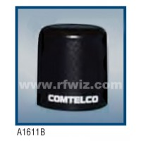 "Comtelco A1611B  -  150-174 MHz VHF Low Profile 3"" Dia. x 3 1/4"" High NMO Unity Gain BLACK Mobile Antenna"