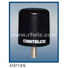 "Comtelco A1611BN  -  150-174 MHz VHF Low Profile 3"" Dia. x 3 1/4"" High Tamperproof BLACK Mobile Antenna"