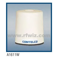 "Comtelco A1611W  -  150-174 MHz VHF Low Profile 3"" Dia. x 3 1/4"" High NMO Unity Gain WHITE Mobile Antenna"
