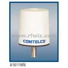 "Comtelco A1611WN  -  150-174 MHz VHF Low Profile 3"" Dia. x 3 1/4"" High Tamperproof WHITE Mobile Antenna"