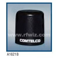 "Comtelco A1621B-222  -  222 -224 MHz VHF Low Profile 3"" Dia. x 3 1/4"" High NMO Unity BLACK Mobile Antenna"