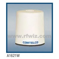 "Comtelco A1621W-222  -  222 -224 MHz VHF Low Profile 3"" Dia. x 3 1/4"" High NMO Unity WHITE Mobile Antenna"