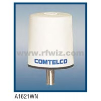 "Comtelco A1621WN-224  -  224 -226 MHz Low Profile 3"" Dia. x 3 1/4"" High Tamperproof WHITE Mobile Antenna"