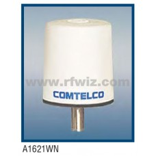 "Comtelco A1621WN-220  -  220 -222 MHz Low Profile 3"" Dia. x 3 1/4"" High Tamperproof WHITE Mobile Antenna"