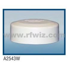 "Comtelco A2543W  -  440-512 MHz UHF Low Profile 4.25"" Dia. x 1.5"" High NMO WHITE Mobile Antenna"