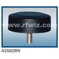 "Comtelco A2582BN  -  806-940 MHz UHF Low Profile 4.25"" Dia. x 1.5"" High Tamperproof BLACK Mobile Antenna"