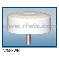 "Comtelco A2582WN  -  806-940 MHz UHF Low Profile 4.25"" Dia. x 1.5"" High Tamperproof WHITE Mobile Antenna"