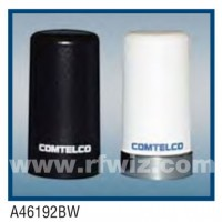 "Comtelco A46192W  -  1.85 -1.99 GHz UHF Low Profile 1.5"" Dia. x 2.7"" High NMO WHITE Mobile Antenna"