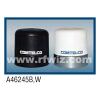 "Comtelco A46245W  -  2.4 -2.5 GHz UHF Low Profile 1.5"" Dia. x 2"" High NMO WHITE Mobile Antenna"