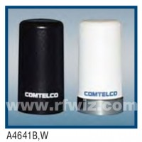 "Comtelco A4641W-406  -  406 -420 MHz UHF Low Profile 1.5"" Dia. x 2.7"" High NMO WHITE Mobile Antenna"