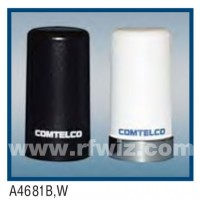 "Comtelco A4681W-896  -  896 -960 MHz UHF Low Profile 1.5"" Dia. x 2.7"" High NMO WHITE Mobile Antenna"