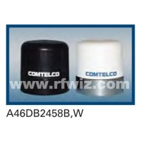 "Comtelco A46DB2458W  -  1.5-2.7/4.5-6.0 GHz Dual Band Low Profile 1.5"" Dia. x 2"" High NMO WHITE Mobile Antenna"
