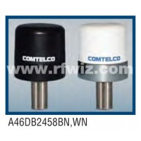 "Comtelco A46DB2458BN  -  1.5- 2.7/4.5-6.0 GHz Dual Band 1.5"" x 2"" Tamperproof BLACK Mobile Antenna"