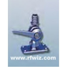 """Comtelco M1034B  -  Heavy Duty Stainless Steel Retractable Marine Mount for 1"""" 14 Thread Antennas"""
