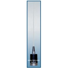 """Comtelco A18H31A  -  50-54/144-148 MHz 42"""" Dual-Band 6M/2M Base Load BRITE finish Mobile Antenna"""