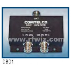 Comtelco DBD1  -  140-174 / 440-512 MHz Dual Band VHF / UHF Diplexer w/N Female Connectors